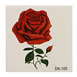 1pc Colorful Waterproof Tattoo Red Rose Flower Small Temporary Tattoo Sticker 6*6cm