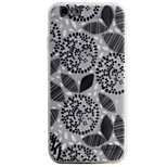 Black Flowers Pattern Simple Matte Material TPU Phone Case For iPhone 6s 6 Plus SE 5s 5