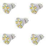 7W GU4(MR11) Focos LED MR11 15LED SMD 5730 600LM lm Blanco Cálido / Blanco Fresco Decorativa AC 12 V 5 piezas