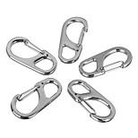 FURA Zinc Alloy Carabiner Keychain Buckle - Silver / Black(5 PCS)