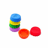 Creative Silica Gel Bottle Cap/Preservation Cover (6 pcs)- Random color