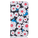 Body collant Support de Carte / Motif Fleur Cuir PU Dur Couverture de cas pour AppleiPhone 7 Plus / iPhone 7 / iPhone 6s Plus/6 Plus /