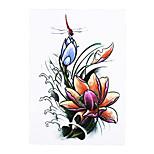 1pc Women Men Body Art Temporary Tattoo Dragonfly Lotus Flower Style Design Sleeve Tattoo Sticker HB-314