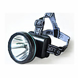 Otsalamput LED 1 Tila 240 Lumenia ladattava LED Litium-paristo Telttailu/Retkely/Luolailu / Päivittäiskäyttöön / Metsästys-Muut,Musta