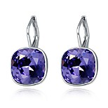 Thousands of colors Earring SquareJewelry 1 pair Fashionable Alloy Silver Daily