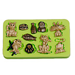 Cat Fish Bones Cake Decoration Silicone Fondant Mold Sugarcraft Tools Polymer Clay Fimo Chocolate Candy Soap Making