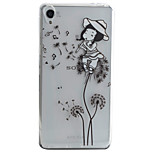 Dandelion Girl Pattern Material TPU Phone Case For Sony Xperia E5 XA