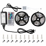 kwb conduit strip5050 2 * 5m led strip lightsrgb conduit bandes kit d'éclairage clé 44 remote12v 6a