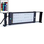20 Inches(52cm) LED Aquarium Light AC 100-240V RGB Remote Control Extendable Bracket LED Fish Lamp US Plug