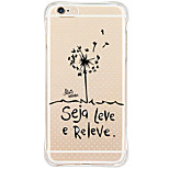 Shockproof/Transparent/Pattern Word/Phrase Dandelion TPU Soft Case For Apple iPhone 6s 6 Plus SE 5s 5