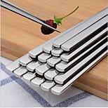 Solid Stainless Steel Flat Flat Korean Chopsticks Chopsticks