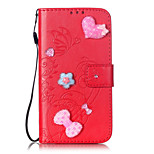 Full Body Card Holder Wallet Shockproof Flip Heart PU Leather Soft Case Cover For iPhone 7 7plus iphone 6 6plus iphone 5