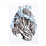 1pc Women Men Waterproof Temporary Body Art Tattoo Chinese Tradition Dragon Wave Picture Decal Tattoo HB-310