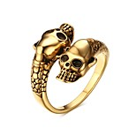 Men's Cuff Ring Stainless Steel High Polished IP Gold Plating Punk Style Daily Party Hallowwmas Casual(1Pc)