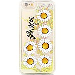 Flowers Flowing Quicksand Liquid/Printing Pattern PC Hard Back Shell For iPhone 6s Plus/6 Plus/6s/6/SE/5s/5