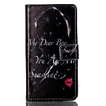 Wallet / Flip Word/Phrase PU Leather Hard Case Cover For Sony Sony Xperia X Performance / Sony Xperia M4 Aqua