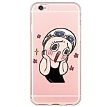 For iPhone 7 Cartoon Pattern TPU Ultra-thin Ranslucent Soft Back Cover for iPhone 6s 6 Plus SE 5s 5