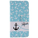 Stained Black and White Anchor PU Phone Case for iPhone 7 7 Plus 6s 6 Plus SE 5s 5 5c 4s 4