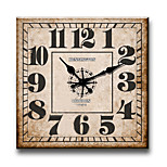1PC Numbers  Wooden   Wall Clock Bedroom Clock  (Pattern is Random)