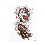 1pc Body Art Beauty Makeup Cool Tattoo Temporary Wolf Cloud Picture Design for Women Men Tattoo Sticker HB-322