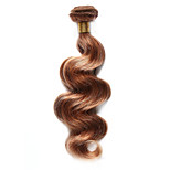 1PC TRES JOLIE Body Wave Human Hair 10-18Inch Blonde Auburn Frost Color 27/30 Human Hair Weaves