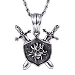 2016 New Kalen Punk 316L Stainless Steel Rock Viking Skeleton Skull Pendant Necklace With 76cm Long Chain Cool Gifts