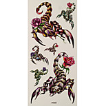 1pc Halloween Horror Waterproof Tattoo Scorpion Rose Big Temporary Tattoo Sticker 18.5*9cm