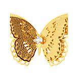 neue Brosche 18k Ankunft Schmetterling reales Gold überzogene edlen Schmuck Luxus Sicherheitsschalter Brosche für Frauen Geschenk x30013