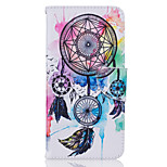 Campanula Pattern Material PU Card Holder Leather for  iPhone 7 7 Plus 6s 6 Plus SE 5s 5 5C 4S
