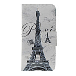 PU Leather Eiffel Tower Pattern Case with Card Slots for iPhone 7 Plus 7 6s Plus 6 Plus 6S 6 SE 5s 5