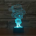 barn røre dæmpning 3d førte natlys 7colorful dekoration atmosfære lampe nyhed belysning christmas lys