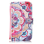 Half Flower Painted PU Leather Material of the Card Holder Phone Case for iPhone 7 7plus 6S 6plus SE 5S
