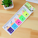 Pencil Design Fluorescent Self-stick Note Set