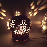 1PC Ceramic Hollow Out Plug-In Electric Fragrance Lamp  Small Night Light The Black Glaze  Circular Essential Oil   Lamp