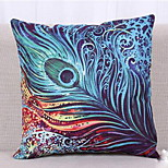 Thailand National Wind Wind Southeast Asian Style Peacock And Elephant Cushion Pattern Cafes Thick Cotton Pillow Cover