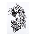 1pc Sexy Body Arm Art Temporary Tattoo Sticker Product Women Men Angel Wing Tears Picture Design Tattoo HB-339