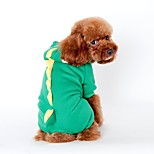 Dog Costume / Coat / Hoodie / Pants / Clothes/Jumpsuit Green / Blue / Pink Dog Clothes Winter / Spring/FallHalloween