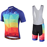Miloto® Cycling Jersey with Bib Shorts Men's Short Sleeve Bike Breathable / Quick Dry / Moisture Permeability / Sweat-wicking / YKK Zipper