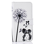 Card Holder Wallet Flip Embossed Dandelion PU Leather Case For iPhone 7 7 Plus 6s 6 Plus SE 5s 5