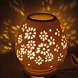 1 stk keramiske plug-in elektrisk som beveger lys hul ut duft lampe lite nattlys