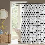 Contemporânea Poli / algodão 70x72inch  -  Alta qualidade Cortinas de Banheiro