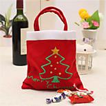Creative Christmas Tree Pattern Santa Claus Candy Bag Handbag Home Party Decoration Gift Bag Christmas