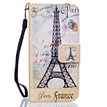 Eiffel Tower PU Leather Wallet for Huawei P8Lite P9 P9Lite