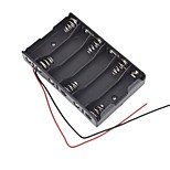 Battery Box Slot Holder Case for 6 Packs AA 2A Batteries Stack 9V