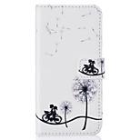 Card Holder Wallet Flip Embossed Dandelion PU Leather Case For iPhone 7 7 Plus 6s 6 Plus SE 5s 5