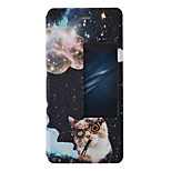 Full Body Flip Pattern Cat PU Leather Hard Case Cover For Huawei Huawei P9 Huawei P9 Lite