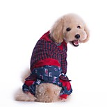Cani Tuta Abbigliamento per cani Inverno Primavera/Autunno Righe Vacanze Di tendenza Rosso Verde