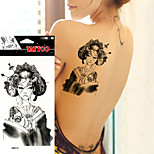 5Pcs  Body Art Paiting Sexy Women Arm Leg Back Tattoo Makeup  Japan Geisha Girl Waterproof Temporary Tattoo Sticker