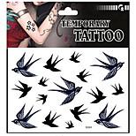 1pcs Good waterproof swallow bird tattoo pattern tattoo stickers