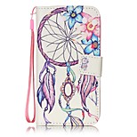 Dream Catcher Painted PU Leather Material of the Card Holder Phone Case for iPhone 7 7plus 6S 6plus SE 5S